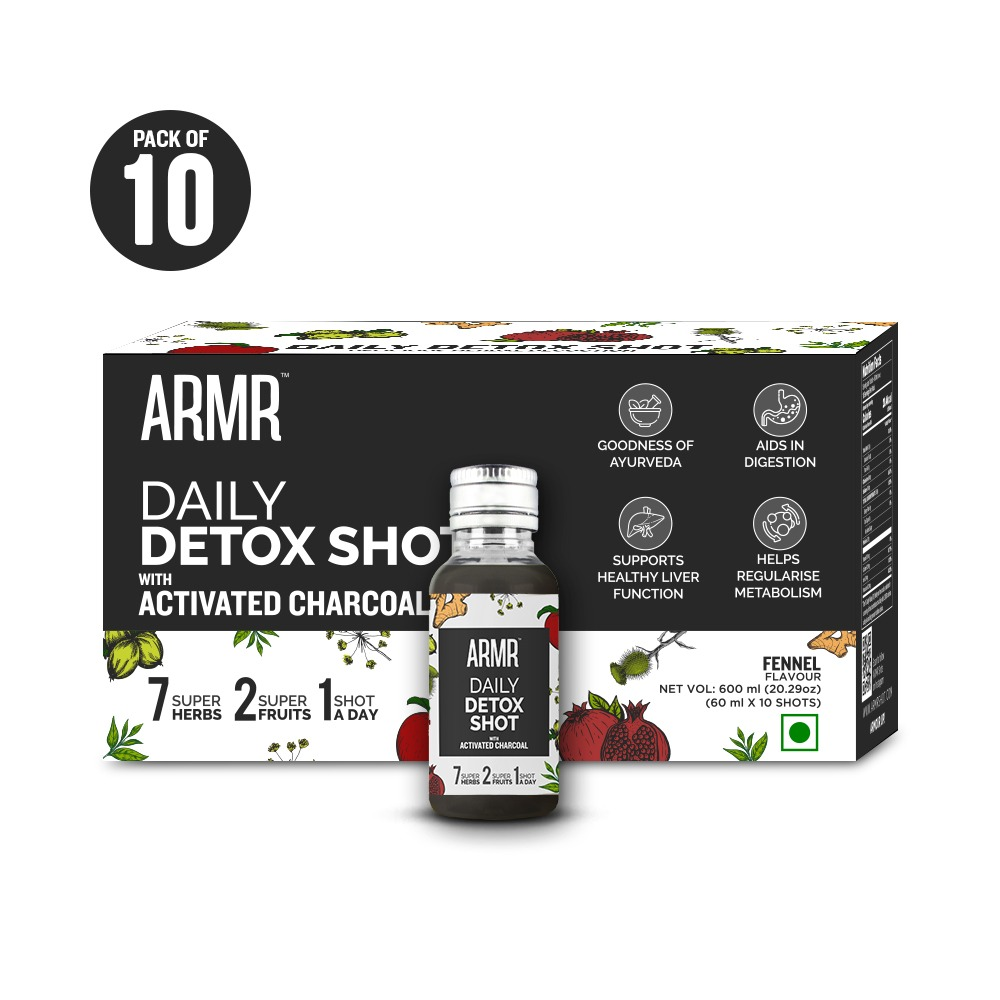 Daily Detox Shot with Activated Charcoal (Pack of 10)