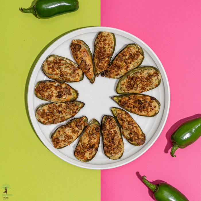 Baked Jalapeno Poppers with Vegan Cream Cheese (50gms)