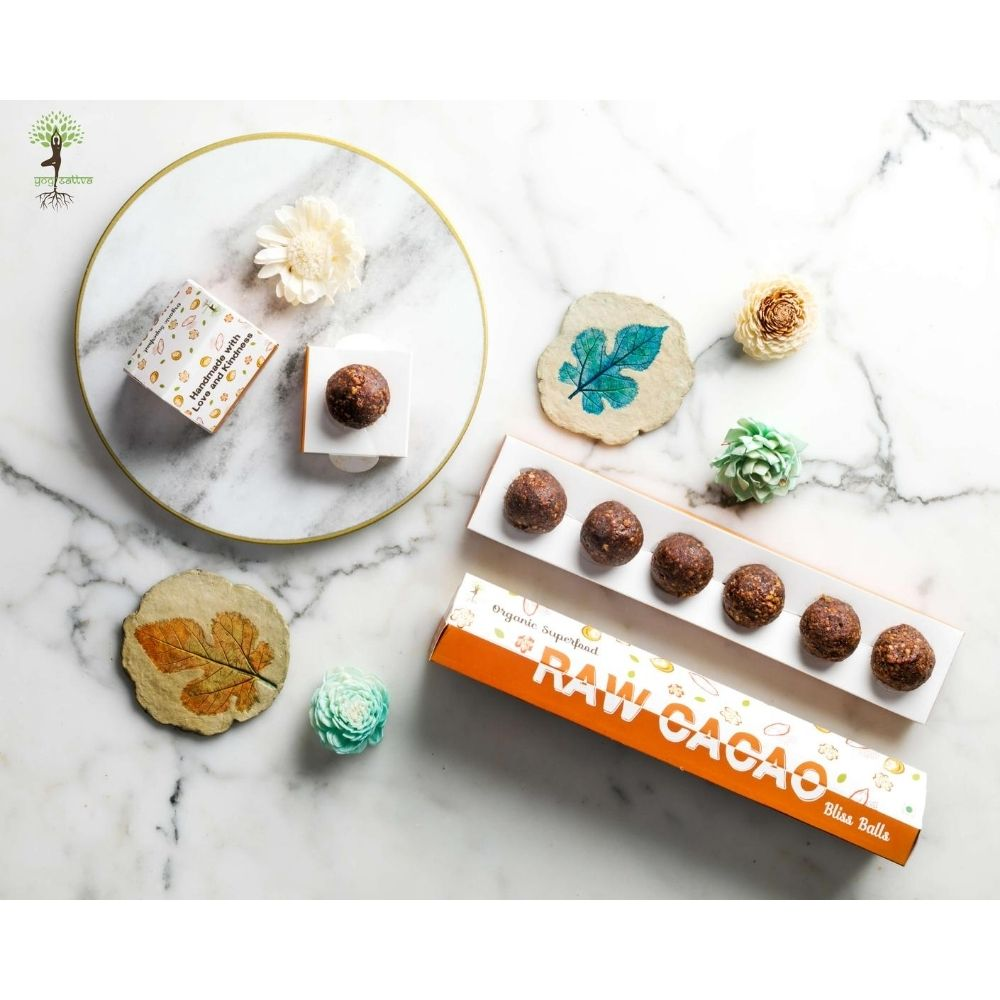 Raw Cacao & Walnut Bliss Balls - Box of 6