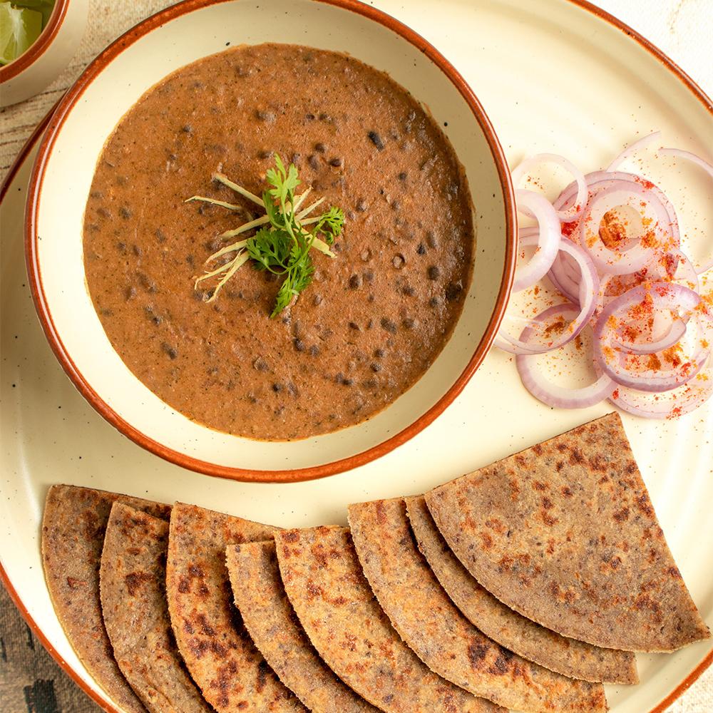 Vegan Dal Makhani with Gluten Free Amaranth & Flax Roti X 2