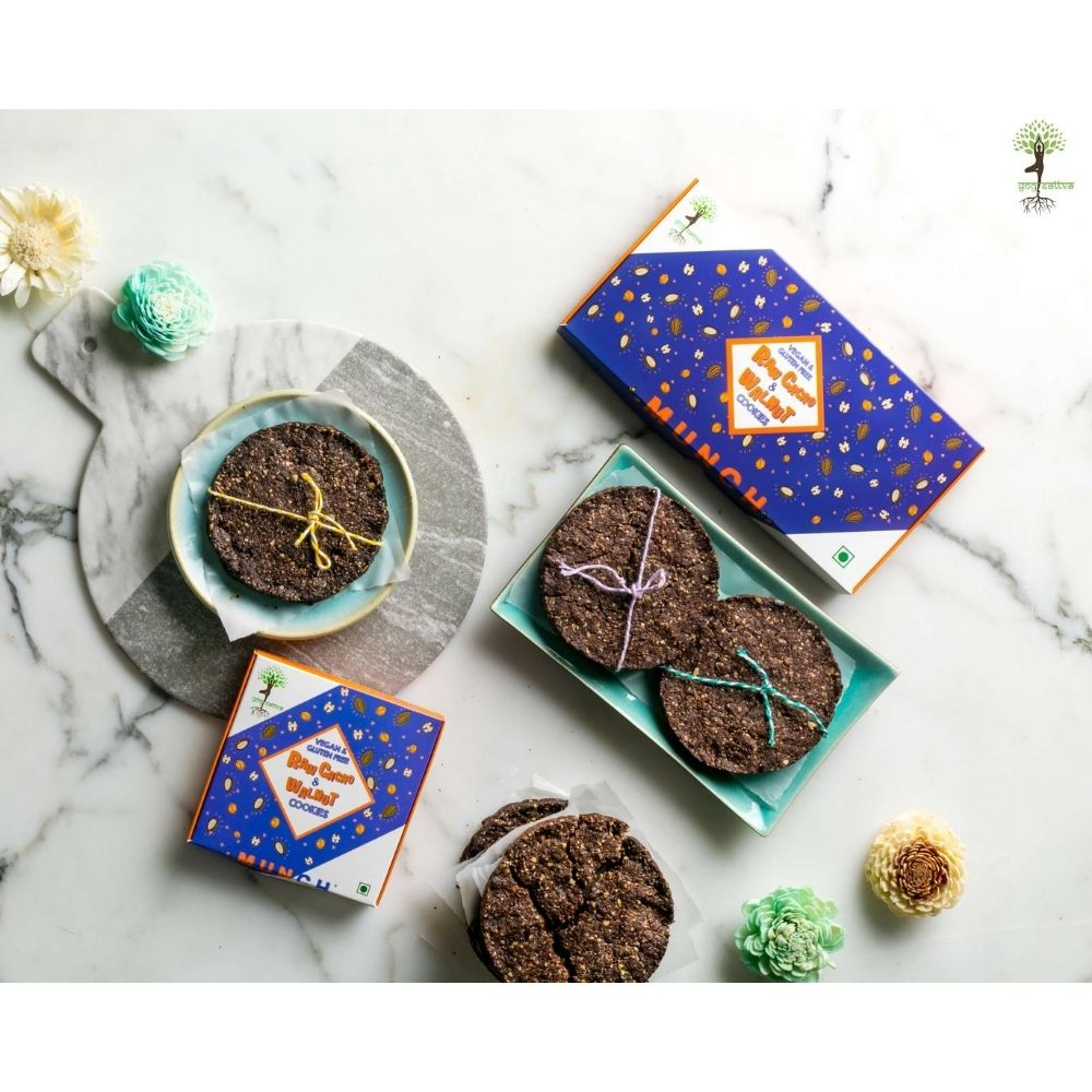 Raw Cacao & Walnut Cookies - Box of 2