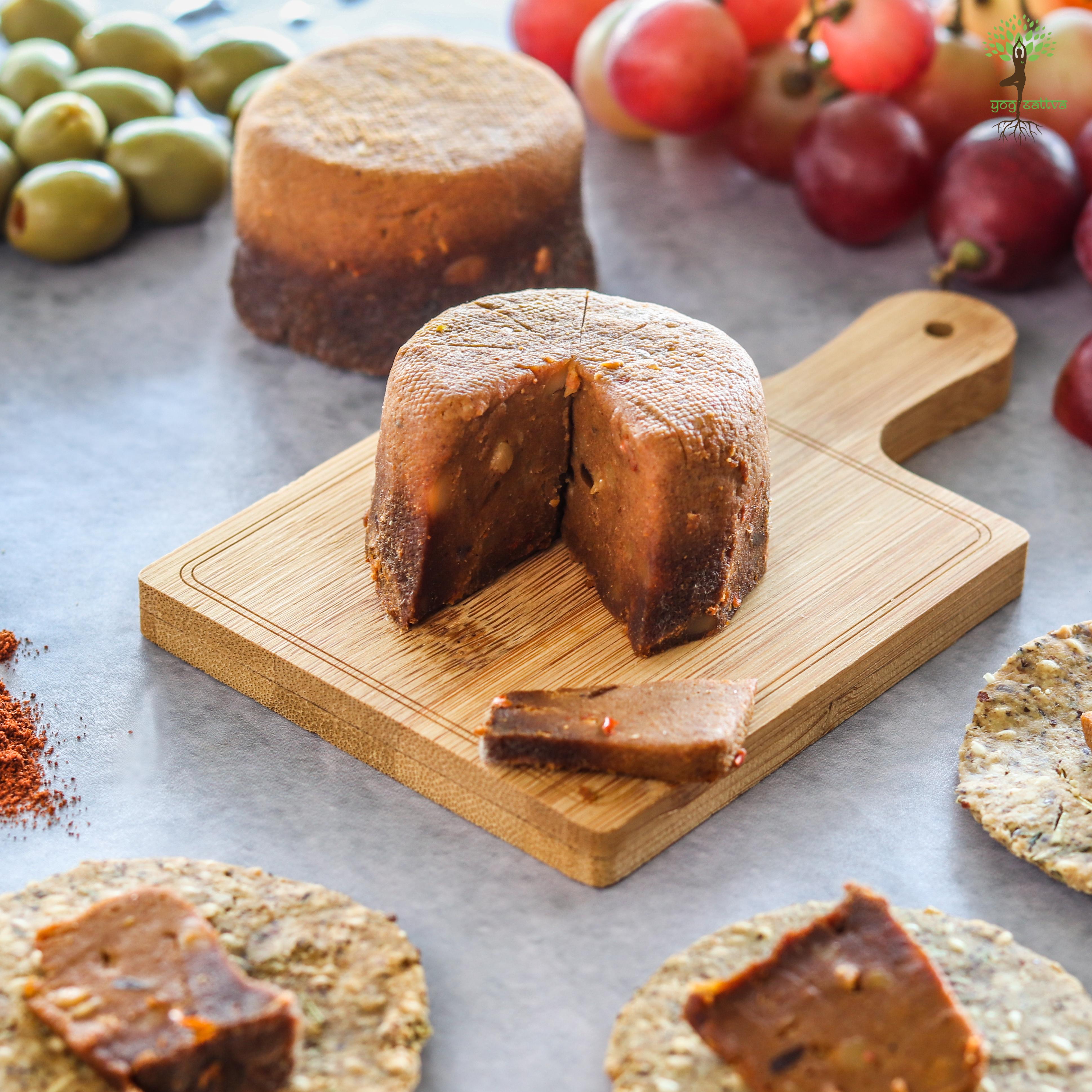 Smoked Paprika Fermented Block Cheese (100gms)