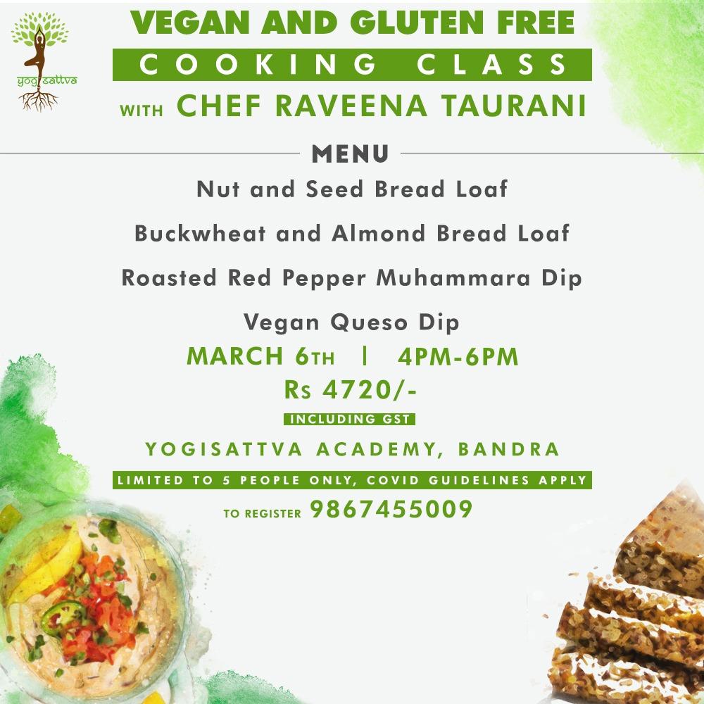 Vegan & Gluten Free Breads & Spreads Class  (OFFLINE/IN PERSON)